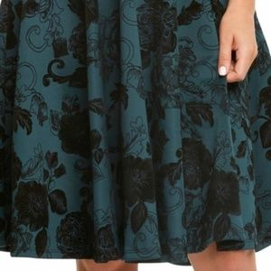 Eva Rose Dresses - Pine Flocked Swing Dress